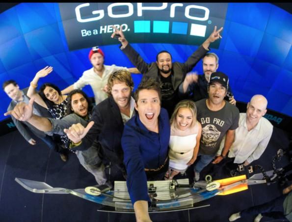 Nick Woodman und sein Team beim GoPro-Börsengang am vergangenen Donnerstag. (Bild: GoPro)