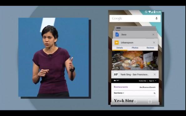 Browser-Tabs erscheinen zukünftig als einzelne Elemente in der Multitasking-Ansicht. (Screenshot: youtube.com)
