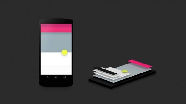 Material Design: Alle UI-Elemente verfügen über eine eigene Ebene. (Quelle: google.com)