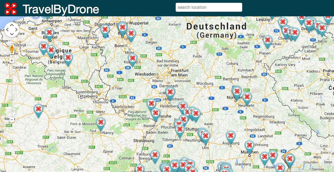drohnen karte TravelByDrone: Interaktive Weltkarte zeigt von Drohnen
