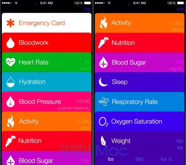 """Apple wird iOS 8 auf der WWDC vorstellen. Ein Highlight soll die zentrale Gesundheits-App """"Healthbook"""" sein. (Quelle: 9to5mac.com)"""