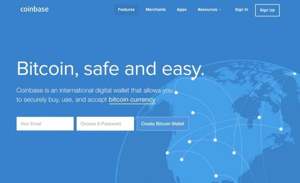 Laut Oliver Thylmann ein guter Platz zur Bitcoin-Lagerung: Coinbase. (Screenshot: Coinbase)