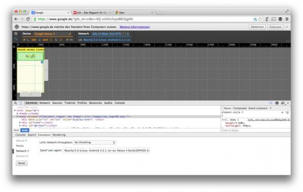 Chrome 38 Canary: Die experimentelle Version des Browser bietet einige spannende Funktionen für Designer und Entwickler. (Screenshot: t3n)