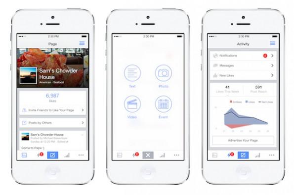 Facebook Pages Manager: So sieht die neue iOS-App aus. (Grafik: Facebook)