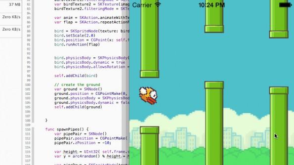 FlappySwift: Flappy Bird mit Swift nachgebaut. (Bild: GitHub)
