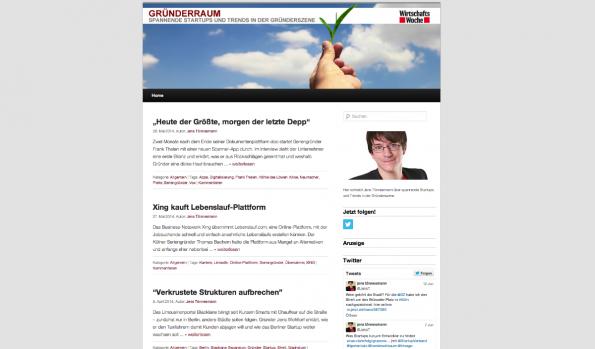 t3n-Blogperlen Startups #10: Gründerraum. (Screenshot: t3n)