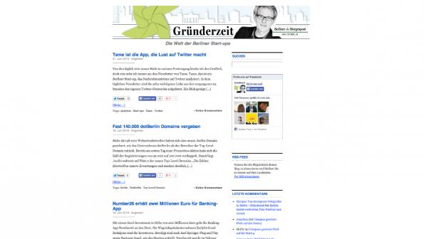 t3n-Blogperlen Startups #5:  Gründerzeit. (Screenshot: t3n)