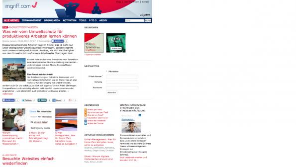 t3n-Blogperlen Startups #6:  Imgriff. (Screenshot: t3n)