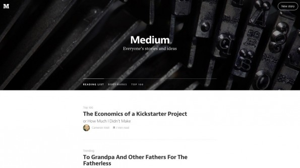 Medium: Die Publishing-Plattform kann auch als Teil der Content-Marketing-Strategie genutzt werden. (Screenshot: Medium)