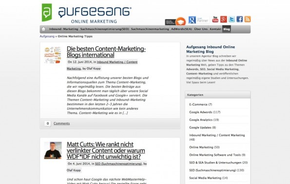 t3n-Blogperlen Online-Marketing #2: SEM-Deutschland. (Screenshot: sem-deutschland.de)