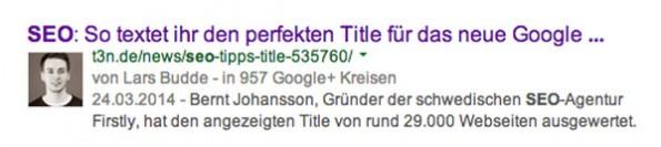 Authorship: Die Autorenbilder in den Google-Suchergebnissen sind Vergangenheit. (Screenshot: Google)