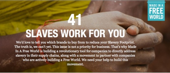 (Screenshot: slaveryfootprint.com)