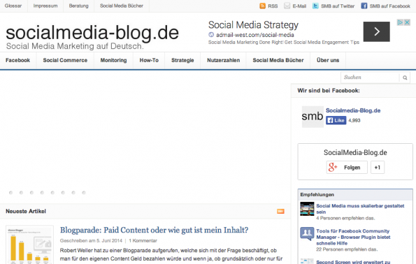 "t3n-Blogperlen – Social Media #9: ""SocialMedia Blog""."