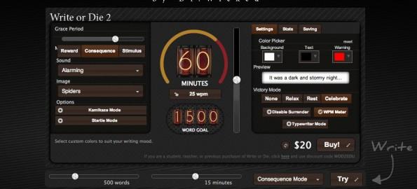 Content Marketing: Der Kamikaze-Modus von Write or Die 2 ist nichts für Anfänger. (Screenshot: Write or Die 2)