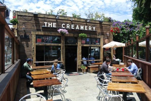 """""""The Creamery"""" liegt direkt an der Caltrain-Station. Ein geeigneter Ort um Besucher aus dem Silicon Valley unkompliziert treffen zu können. (Bild: Andreas Weck)"""