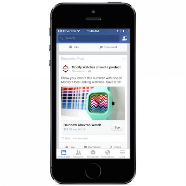 Facebook am Smartphone: Buy Button im Test