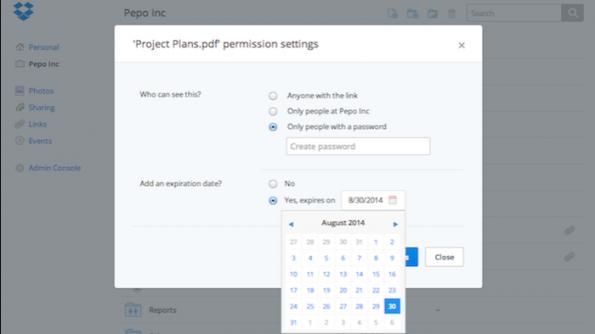 Dropbox baut für Unternehmen  eine Sicherheitsschranke beim Teilen von Ordnern ein. (Bild: Dropbox)