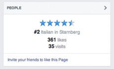 Das neue Ranking unterhalbt der Bewertungen. (Quelle: allfacebook.de)