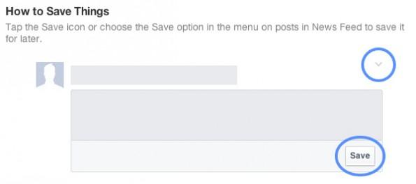 Facebook: Die Speicherfunktion sollte Nutzern schon jetzt zur Verfügung stehen. (Screenshot: Facebook)