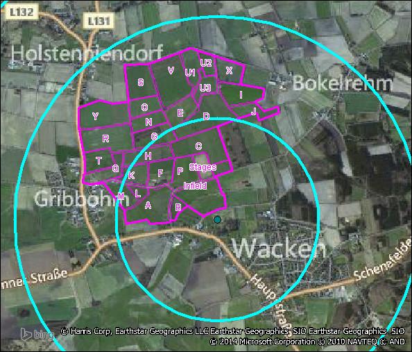 Radiale Bereiche (hier in Blau) sind nicht für das Monitoring kleinräumlicher Strukturen ausgerichtet.