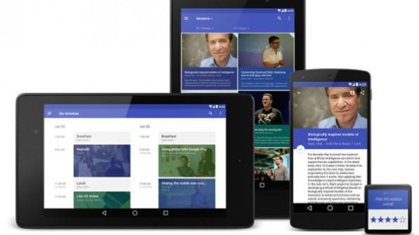 State of the Art: Google hat bei der I/O-App sämtliche neue Funktionen eingebaut. (Bild: Google)