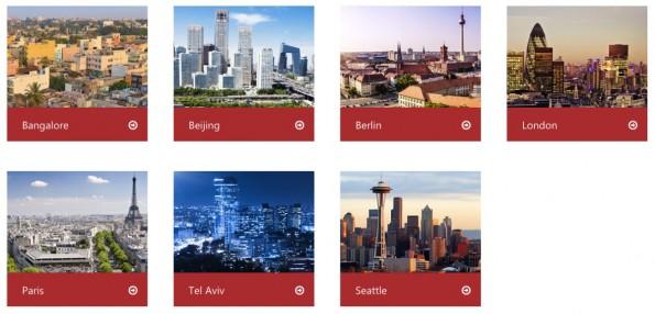 Microsofts Accelerator ist inzwischen an sieben verschiedenen Standorten vertreten. (Screenshot: microsoft.com)