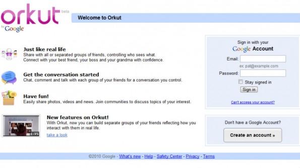 Orkut wurde in den vergangenen Jahren von anderen Google-Diensten überholt. (Bild: Screenshot)