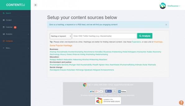 ContentDJ will der digitale Redaktionsplan für das Social-Media-Zeitalter sein. (Screenshot: ContentDJ)