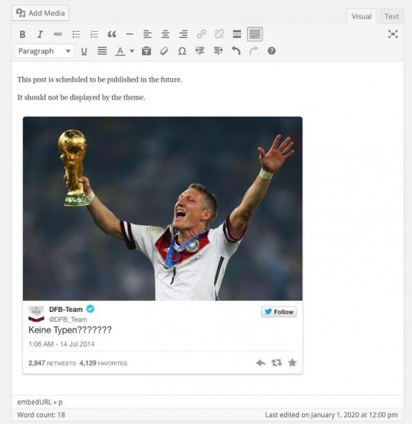 Vorschau im visuellen Editor von eingebundenen Quellen. (Screenshot: eigene Installation)