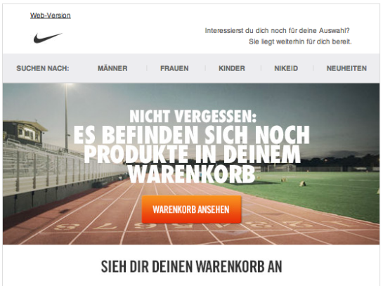 Nike. (Quelle: Online Marketing Rockstars)