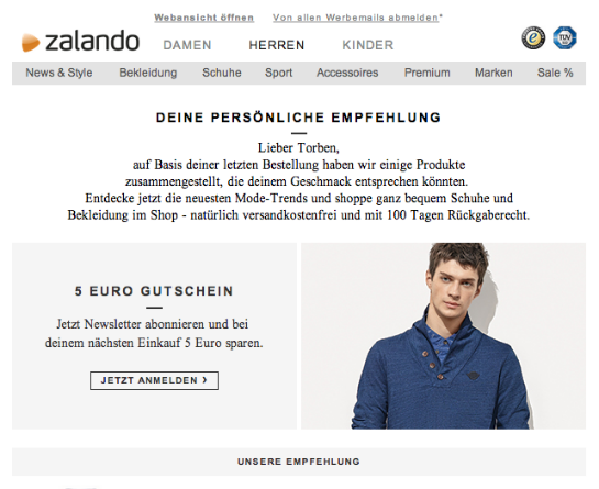 Zalando. (Quelle: Online Marketing Rockstars)