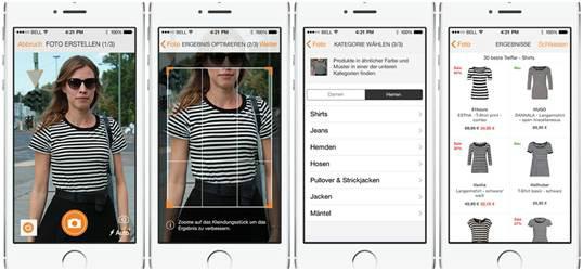 So funktioniert die Fotosuche in der Zalando-App (Bild: Zalando)