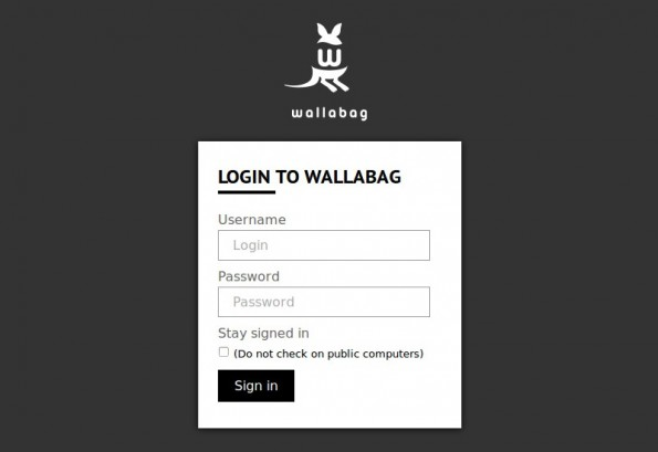 Wallabag: Das Känguruh für deine Bookmarks. (Screenshot: Wallabag)