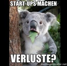 Für viele mangelt es an Verständnis dafür, dass Startups auch Verlust machen können. (Bild: memegenerator.net)