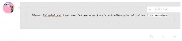 Die Omnibar von Ello, ein durchdachtes Feature. (Screenshot: Ello)
