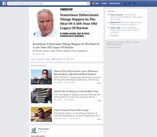 So könnte Facebook künftig Satire kennzeichnen. (Screenshot: Facebook-Feed, via Ars Technica)