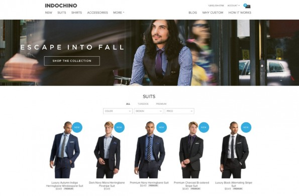 (Screenshot: Indochino)