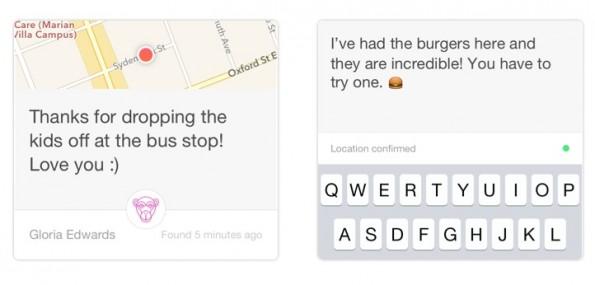 Mit Knit könnt ihr Notizen an einem bestimmten Ort hinterlassen. (Screenshot: Knit)