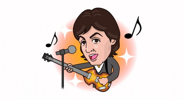 Ein Line-Sticker von Paul McCartney. (Grafik: paulmccartney.com)