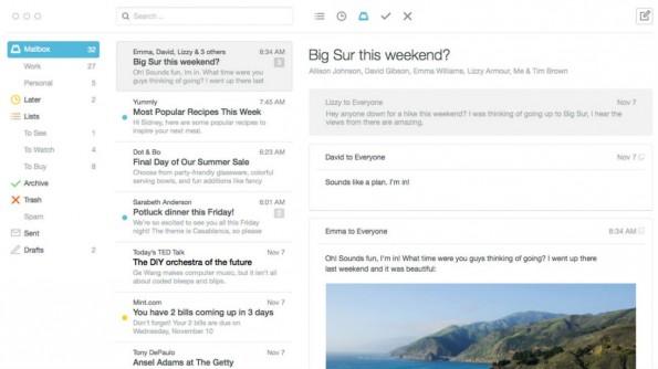 Beim Design der Mac-Version hat sich Mailbox an der Mobile App orientiert. (Bild: Mailbox)