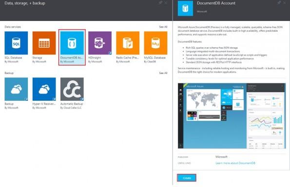 NoSQL-Datenbank als Service: Microsoft stellt DocumentDB vor. (Screenshot: Microsoft)