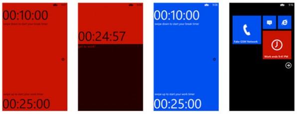 Auch Windows-Phone-Nutzer müssen nicht auf einen Pomodoro-Timer verzichten. (Screenshot: Windows-Phone-Store)