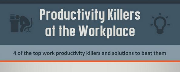 4 Produktivitäts-Killer und wie du sie in den Griff bekommen kannst. (Infografik: PulpPR)