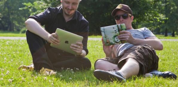 Warum nicht einfach im Park am Text arbeiten? (Foto: Sébastien Bonset)