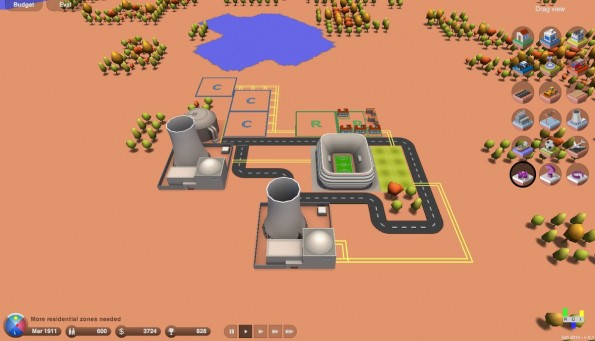 3d.city: Der Sim-City-Klon setzt auf Three.js und Sea3d. (Screenshot: 3d.city)