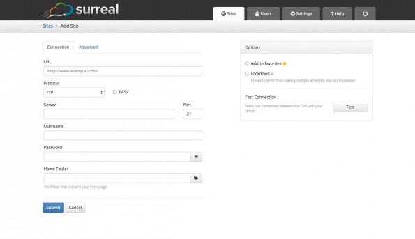 Surreal CMS richtet sich vor allem an Designer. (Screenshot: Surreal CMS)