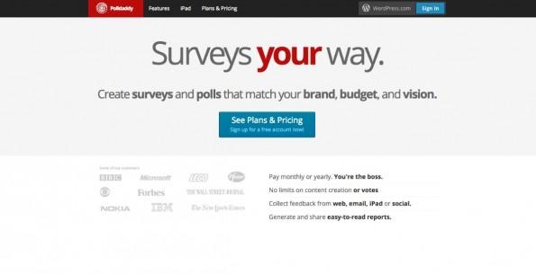Von Automaticc, der Firma hinter WordPress, stammt das Umfrage-Tool Polldaddy. (Screenshot: polldaddy.com)