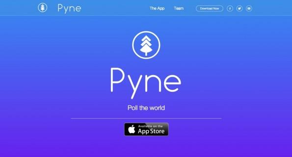 Das Umfrage-Tool Pyne funktioniert per iOS-App. (Screenshot: getpyne.com)