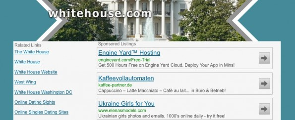 Wo geht's denn hier zum weißen Haus? (Screenshot: whitehouse.com)