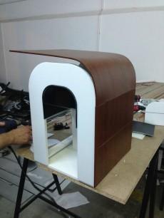 Der ursprünglich präsentierte Sieger-Entwurf der Kaffeemaschine scheiterte an technischen Hürden. (Foto: Bonaverde)